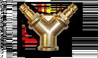 Двійник з адаптерами - латунь, SP028