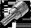 Конектор на шланг 9мм STAL-СРІБНИЙ, SE3-3SH/STEEL