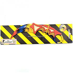 """Деревянный нож игрушка """"Керамбит"""" (Радуга) из Counter-Strike ( арт.KAR-R)"""