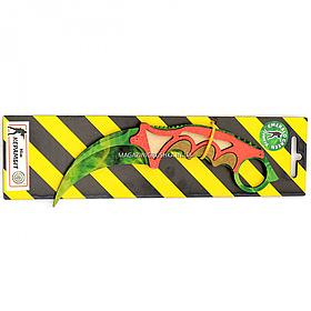 """Деревянный нож игрушка """"Керамбит""""(Зелёный Изумруд,Изумруд) из Counter-Strike ( арт.KAR-E)"""