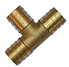 "Тройник T-образный для шланг 3х1"" 25мм, ЛАТУНЬ,  GKI032525"