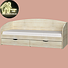 Односпальная кровать Комфорт (без матраса) (матрас 800х1900) (1940х850х800), фото 7