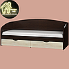 Односпальная кровать Комфорт (без матраса) (матрас 800х1900) (1940х850х800), фото 2