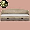 Односпальная кровать Комфорт (без матраса) (матрас 800х1900) (1940х850х800), фото 3