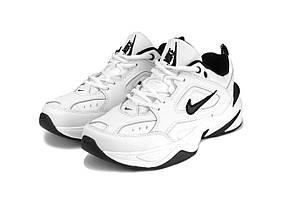 Женские кроссовки Nike M2K Tekno, белые с черным / женские кроссовки Найк Текно (Топ реплика ААА+)