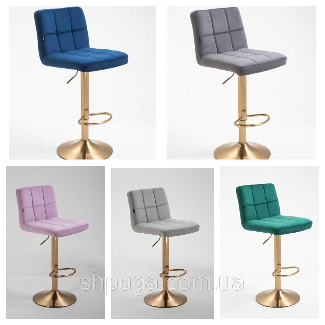 Кресло - стул  визажный , барный код 8052 велюровое цвет на выбор из каталога.
