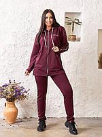 Женский спортивный костюм-тройка кофта штаны и футболка батал, фото 1