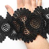 Мереживо макраме чорного кольору, ширина 10 див., фото 5
