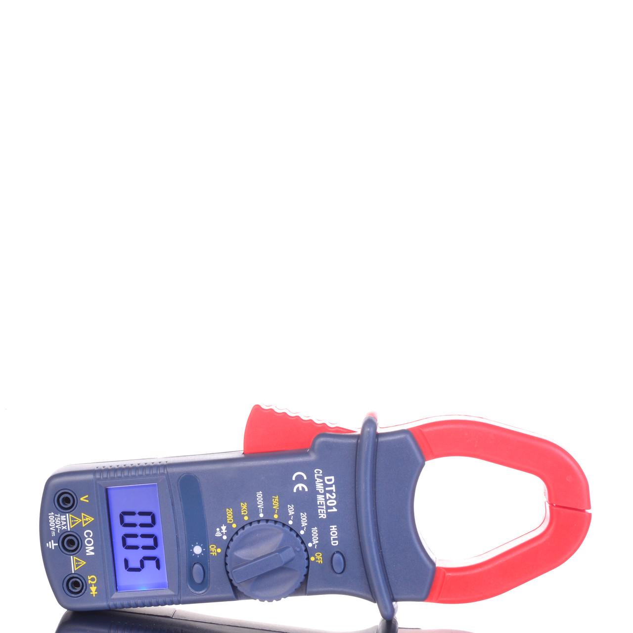 Токоизмерительные токовые клещи DT201 с мультиметром + подсветка