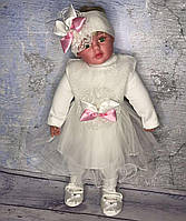 Платье, Нарядный набор 5 пр для девочки, крестильный набор, набор на выписку