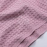 """Лоскут хлопковой ткани """"Бельгийская вафелька"""" цвет тёмной пыльной розы, размер 38*230 см, фото 2"""