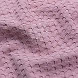"""Лоскут бавовняної тканини """"Бельгійська вафелька"""" колір темної попелястої троянди, розмір 38 * 230 см, фото 3"""