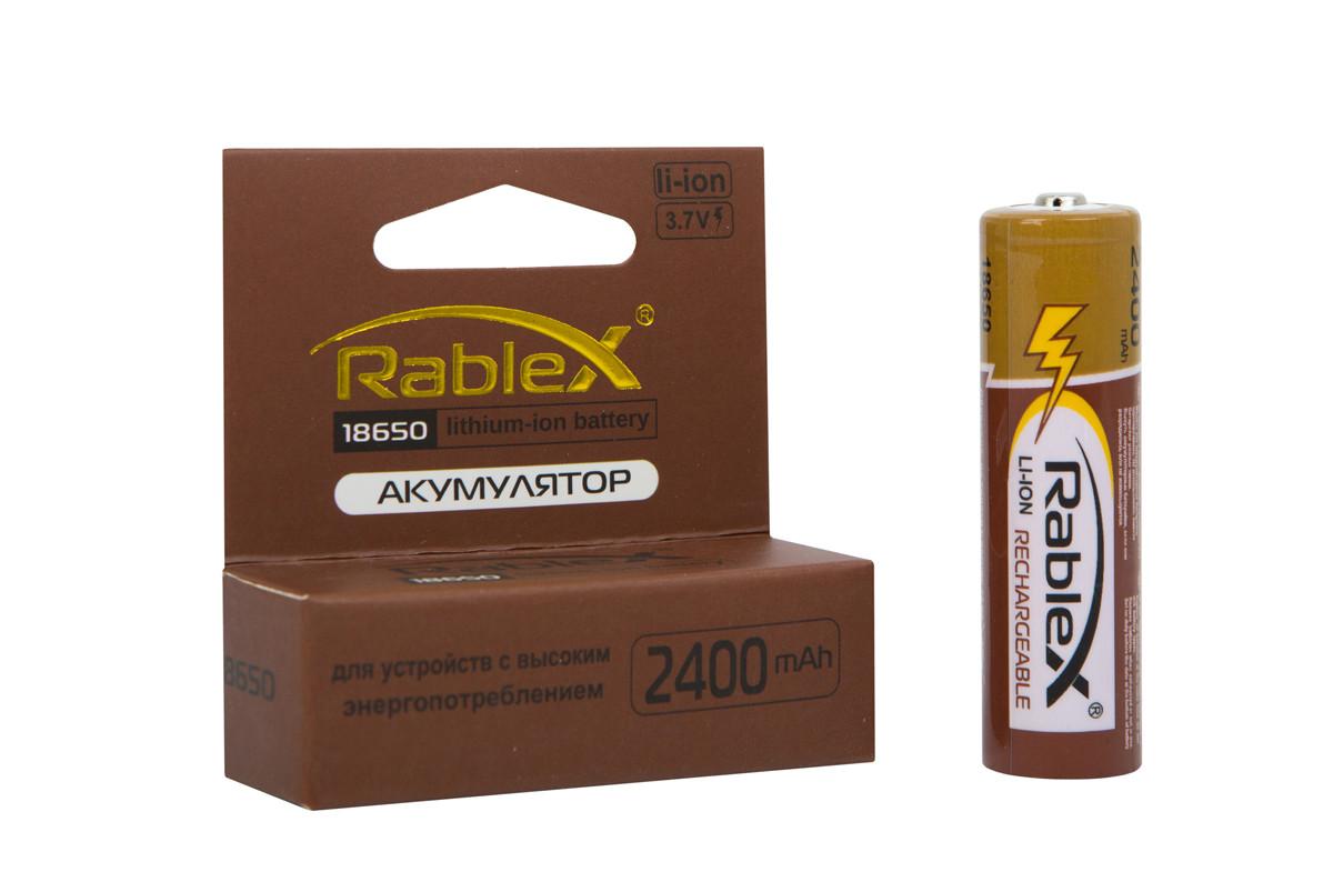 Акумулятор Rablex 18650-2400mAh, 3.7 v, Li-Ion