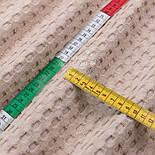 """Лоскут бавовняної тканини """"Бельгійська вафелька"""" бежевого кольору, розмір 40 * 230 см., фото 4"""