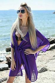 Туника пляжная короткая Фиолетовый