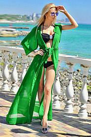 Туника длинная пляжная Зеленая