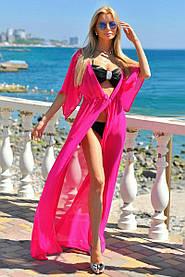 Туника длинная пляжная Малиновый