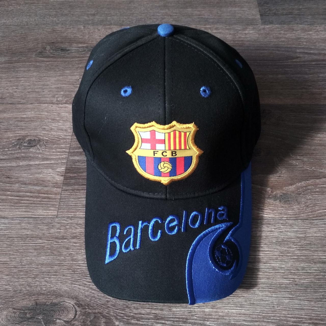 Футбольная Бейсболка / кепка Барселона / Barcelona черная
