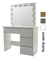 Стіл косметичний з дзеркалом і LED підсвічуванням Bonro B071 для спальні (Туалетний столик для косметики