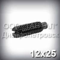 Винт М12х25 ГОСТ 1478-93 (DIN 417, ISO 7435) - гужон установочный с цилиндрическим концом