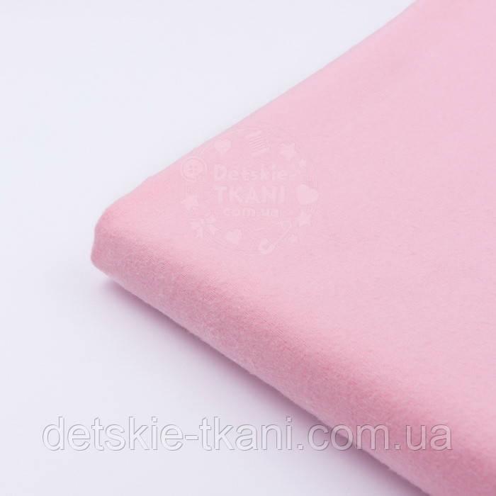 Клапоть однотонної фланелі рожевого кольору, розмір 36*120 см