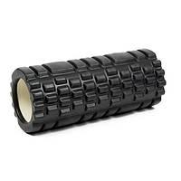 Ролик (валик) для йоги масажний OSPORT (MS-0857) Чорний