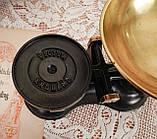 Винтажные английские кухонные весы с гирями, чугун, латунная чаша, латунные гири, Англия,Victor, фото 4