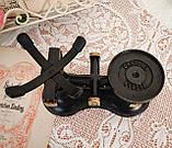 Винтажные английские кухонные весы с гирями, чугун, латунная чаша, латунные гири, Англия,Victor, фото 9