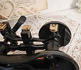 Винтажные английские кухонные весы с гирями, чугун, латунная чаша, латунные гири, Англия,Victor, фото 10