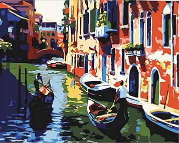 Раскраска по цифрам 40×50 см. Прогулка по венеции