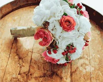 Картины по номерам 40×50 см. Mariposa Букет невесты (RQ-2152)