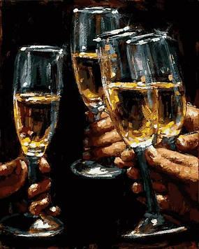 Картины по номерам 40×50 см. Mariposa Шампанское для друзей Художник Фабиан Перез (RQ-2220)