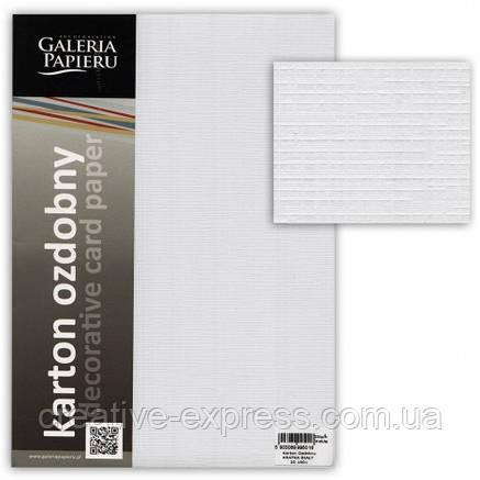 """Декоративний папір """"CHECKED"""" А4, кол. білий 20 шт/уп. 230г/м2, фото 2"""