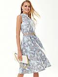 Прінтована плаття без рукавів з коміром-стійкою, фото 3