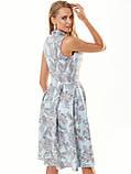 Прінтована плаття без рукавів з коміром-стійкою, фото 4