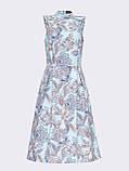 Прінтована плаття без рукавів з коміром-стійкою, фото 6