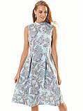 Прінтована плаття без рукавів з коміром-стійкою, фото 2