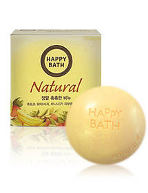 Мыло с яблоком и бананом Amore Pacific Happy Bath Real Moisture Soap Bar Fruit Water 100 г