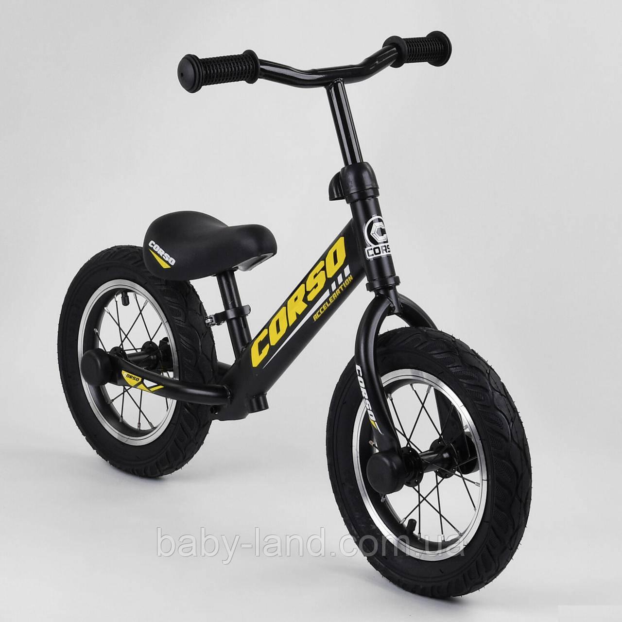 Велобіг від (беговел) CORSO надувні колеса 12 дюймів арт. 73975