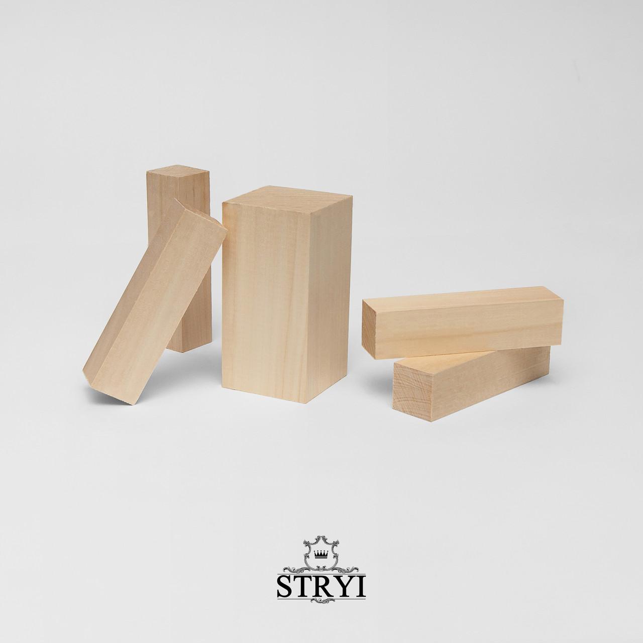 Набір дерев'яних заготовок брусків для вирізання фігур, 5шт