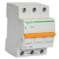 Автоматический выключатель ВА63 3п 32а schneider electric 11226