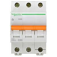 Автоматический выключатель ВА63 3п 20а schneider electric 11224