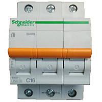 Автоматический выключатель ВА63 3п 16а schneider electric 11223