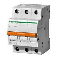 Автоматический выключатель ВА63 3п 6а schneider electric 11221