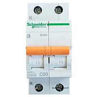 Автомат 2П 50A C Schneider Electric Домовой 11218
