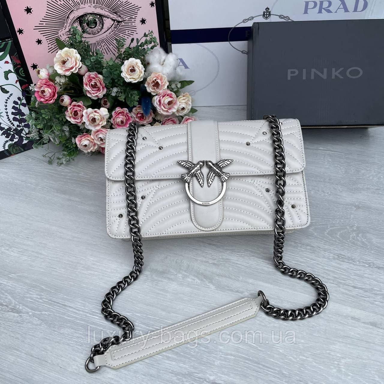 Женская серая сумка Pinko Пинко