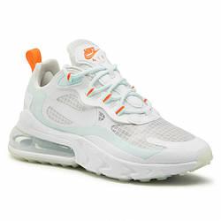 Женские кроссовки Nike Air Max 270 React белые  / женские кроссовки Найк Реакт (Топ реплика ААА+)
