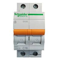 Автомат 2П 16A C Schneider Electric Домовой 11213