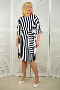 Платье в полоску сине-белую - Модель 3.226.1