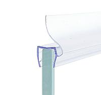 Уплотнитель для стеклянной двери душевой кабины ( ФС02 ) длиной 2 м. ресница с боку